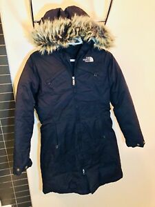 Women's black North Face down jacket. XS