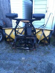 7.5 fisher minuet mount two V blade plow