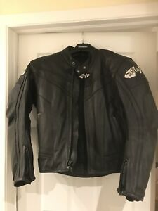 Joe Rocket Leather Motorcycle Jacket - Men's L (44)