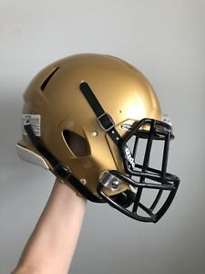 Gold football helmet size L