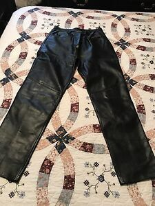 For sale leather pants size 8