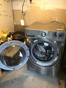 LG stainless steel washer