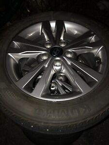 Like new Hyundai Alloy Rims and tires