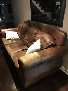 3 piece real leather couch. Good condition, $749 OBO