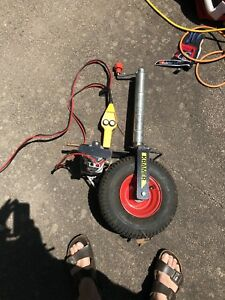 Jockey wheel electric motorised