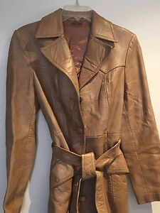 Soft tan-coloured leather jacket Balga Stirling Area Preview