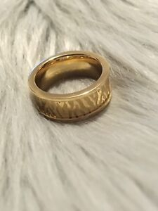 Vitaly yellow gold zebra print ring