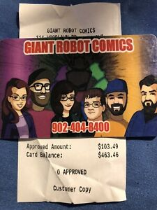$463 Giant Robot Comics Gift Card