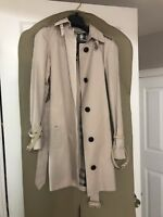 Burberry dusty pink trench coat size US2