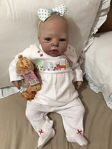 "Reborn Baby Girl Doll 23"" Docklands Melbourne City Preview"