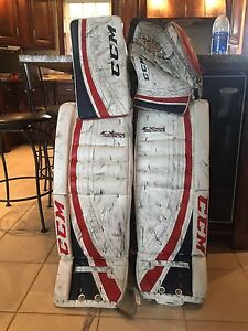 CCM EXtreme Flex 500.  pads32+1, glove and blocker. 550$ obo
