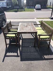 Outdoor solid wood Table and chairs