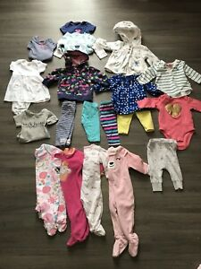 Newborn and 3 months baby girl clothes.