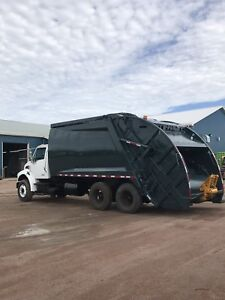 2008 sterling rear load garbage truck low km