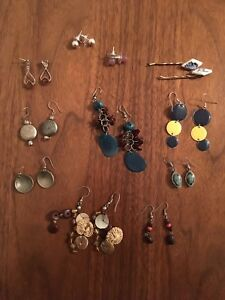 Assorted earrings and necklace