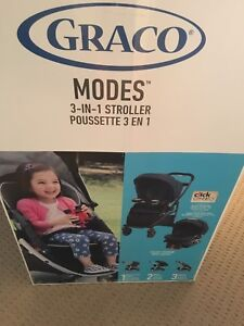 Graco 3 in 1 stroller and car seat