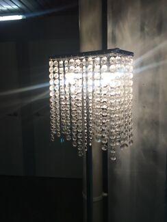 Crystal diamond floor lamp or table lamp silver girly
