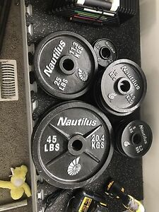 235 lbs Olympic Weight Set 2 inch Hole, $220
