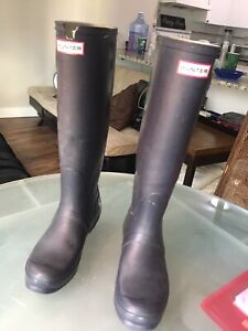 Hunter boots size 8.5 ladies navy