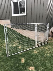 Steel fence section
