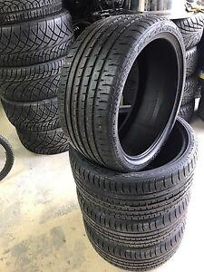 4 pneus neufs 275/30/20 et 245/35/20 staggered accelera