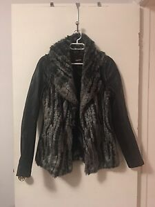 Leather and Faux Fur Jacket/Vest *Never Worn