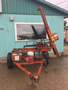 Post pounder and rototiller for rent
