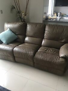 3 seater leather recliner couch Camp Hill Brisbane South East Preview