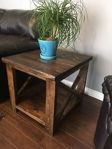 Coffee and End Table! Solid wood, handmade!