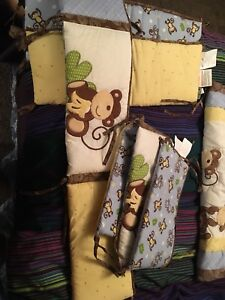 Crib bumpers with matching blanket