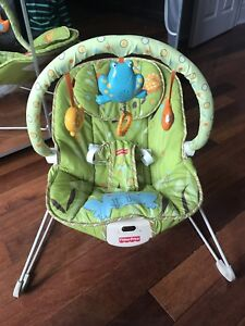Baby playmat and bouncy chair
