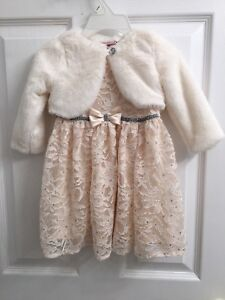 12 month toddler girl dress like new condition