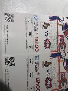 Hockey tickets Habs vs Sens Feb 4 with parking bell center