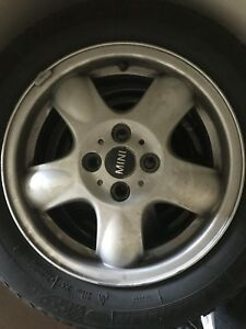 4x100 15x5.5 Mini Cooper factory rims with tires