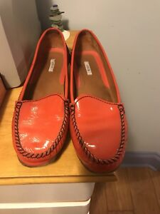 GEOX Patent leather loafers - orange