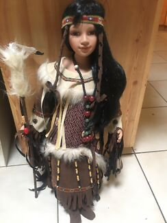 Large 65cm ceramic doll on stand