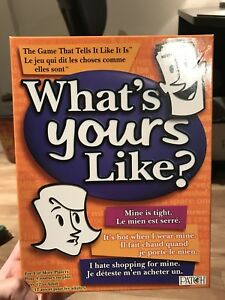 """""""What's Yours Like?"""" adult board game for sale"""