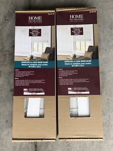 Cordless faux wood white 2 inch blinds brand new in box