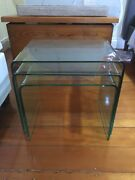 Nest of glass side tables Paddington Brisbane North West Preview