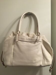 kate spade cream leather shoulder bag