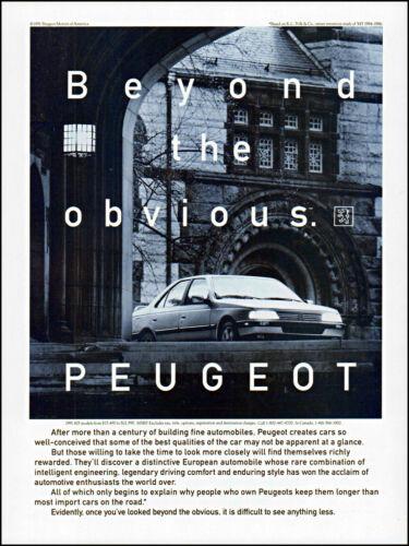 1991 Stately Mansion Peugeot Motors of America Car retro photo print ad ads81