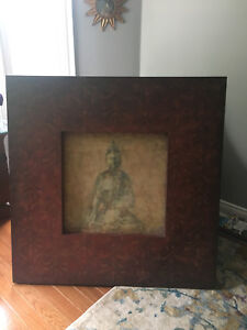 4 ft square framed Buddha picture.