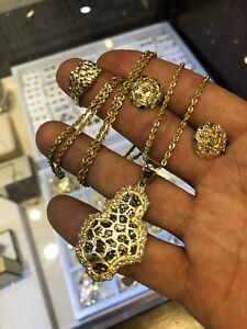 Nugget set all 10k yellow gold
