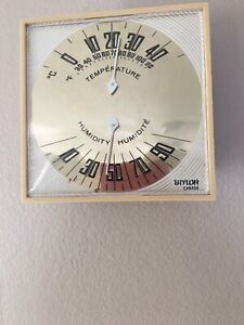 Vintage Taylor Humidiguide Temperature & Humidity Guages