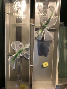 Orchid Design wedding line up card box, champagne glasses etc