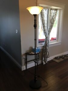 Floor lamps with foot switch