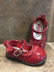 Burgundy baby shoes