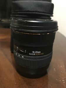 Sigma 10-20mm f3.5 Canon EF mount