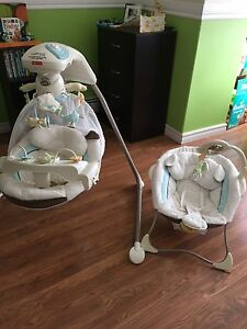 Baby items- swing and chair baby tummy time mat and more!