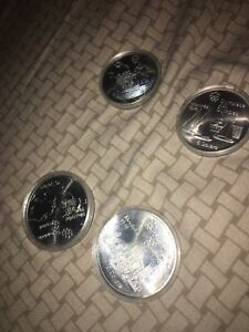 4 Olympic coins from 1976 Montreal
